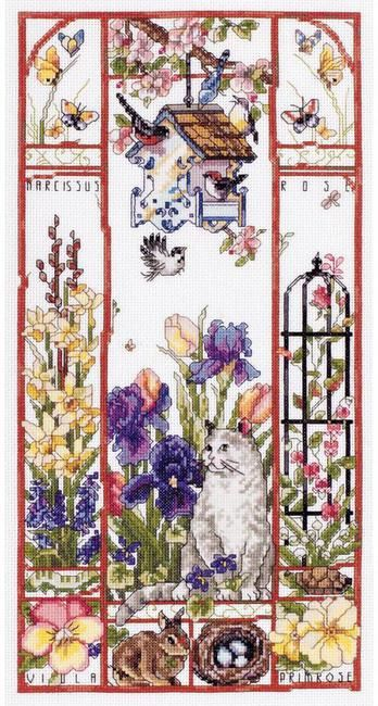 Gardens - Cross Stitch Patterns & Kits