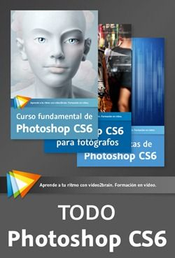 Curso TODO Photoshop CS6 Una combinación de 3 cursos La combinación de cursos video2brain definitiva para que domines a fondo Photoshop CS6. No encontrarás