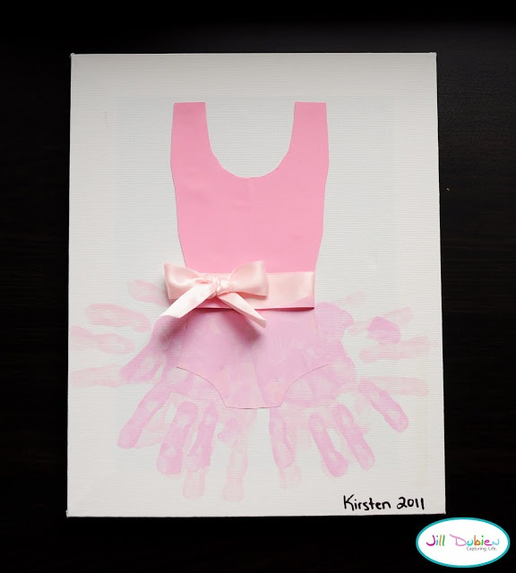 DIY: Ballerina outfit w/ pain, paper ribbon, and hands :)