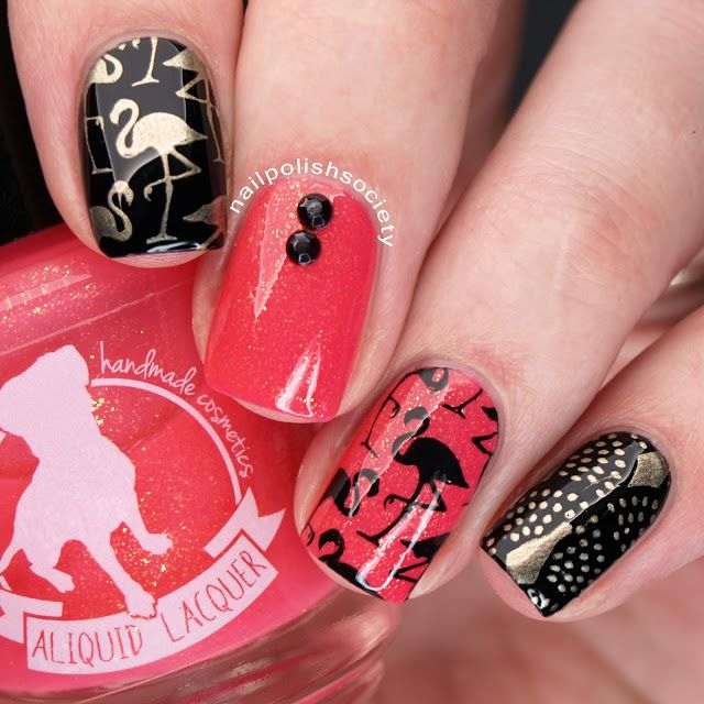 Flamingo Nails With ALIQUID Lacquer Bona Dea