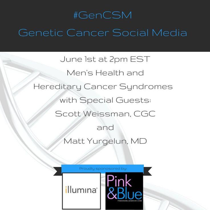 #GenCSM - Twitter Chat Transcript 6/1/17   #MensHealth and #HereditaryCancer #SyndromesBRCA genetics