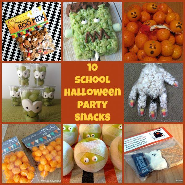 10 school halloween party snacks