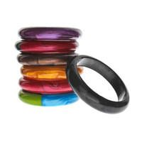Bangles, great for you to wear but hand to baby to teethe on when they're fussy!
