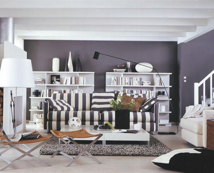 39 besten wohnen living w nde bilder auf pinterest sch ner wohnen farben wandfarben und blau. Black Bedroom Furniture Sets. Home Design Ideas