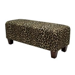 Overstock add some flair to your home decor with this Leopard print bench
