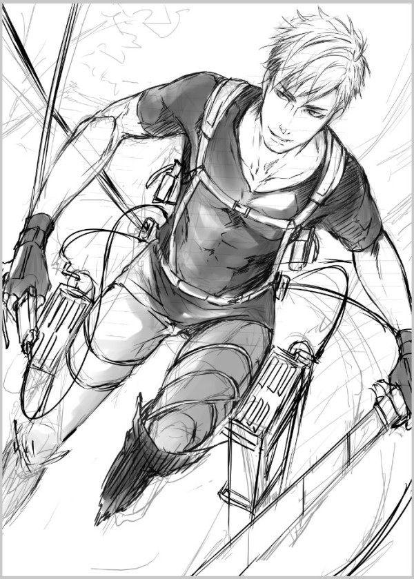 Attack on Titan (Shingeki no Kyojin) - Erwin Smith