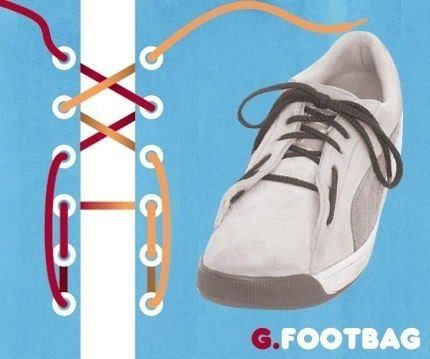 How to tie your shoelace... footbag