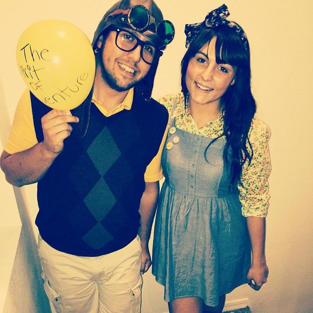 Mauro and my Disney costume  Carl and Ellie from Up Young Carl And Ellie Costumes