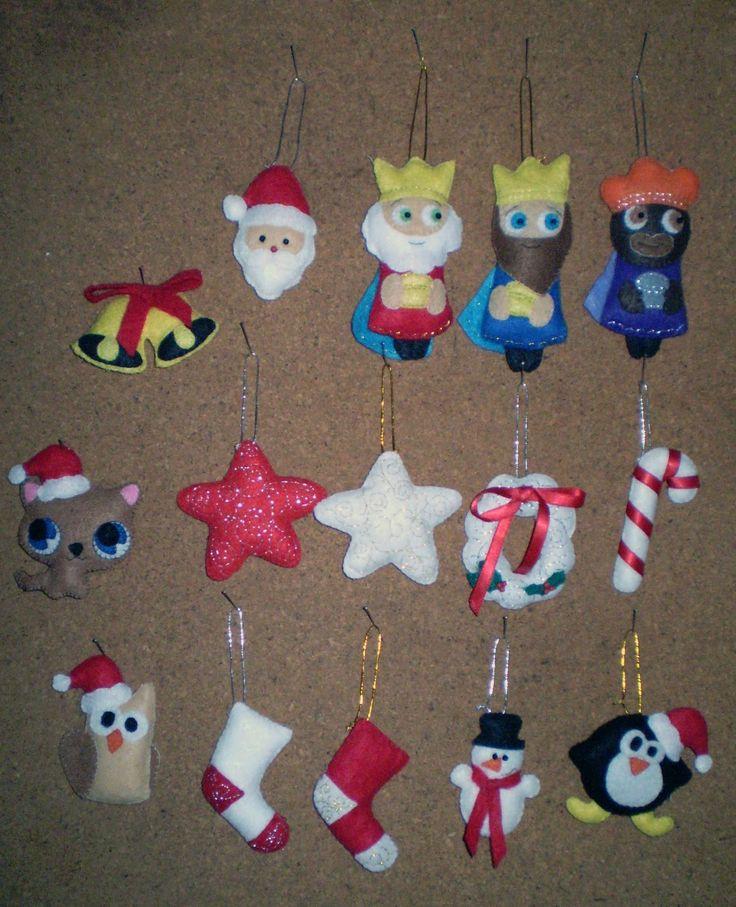 DeS<--: adornos de navidad en fieltro