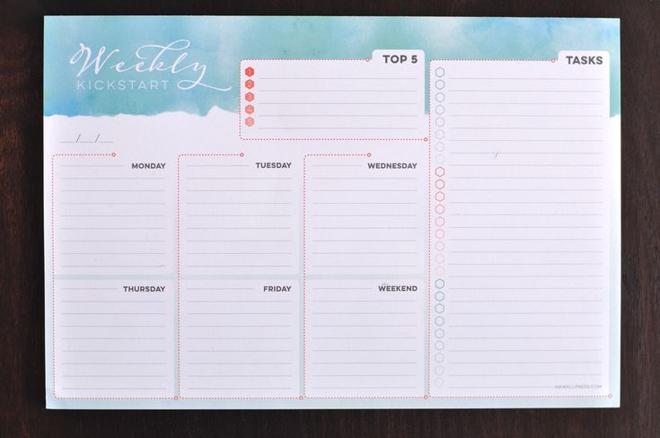 Planning Notepad for Women to Help Organize Your Week - inkWELL Press