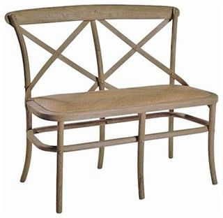 Cross Back Bench - traditional - dining benches - other metro - by redefinehomestore.com