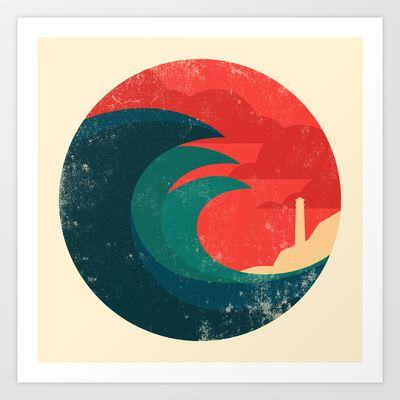 The wild ocean Art Print by Budi Satria Kwan - $19.97