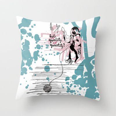 Τhe thread of life Throw Pillow by Evgenia Drouga - $20.00