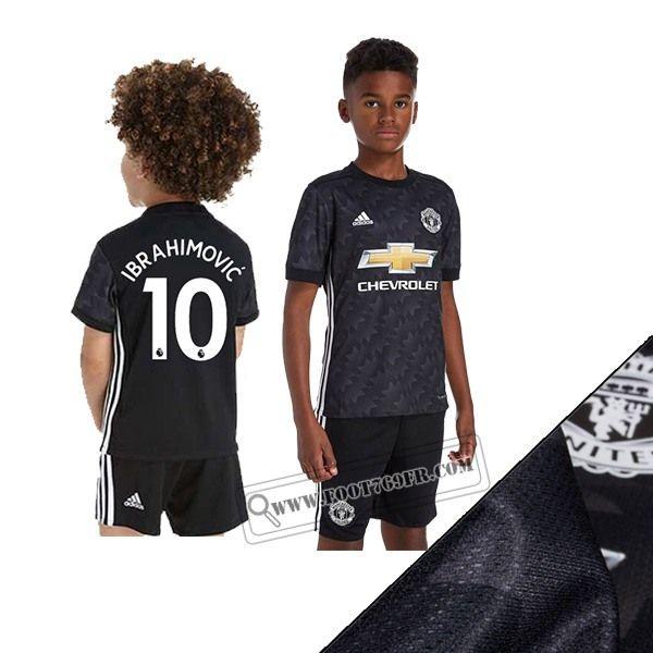 Promotion: Boutique Foot769fr Ensemble Flocage Maillot De Manchester United (Ibrahimovic 10) Enfant Exterieur Noir 2017-2018 Thailande Nouveau