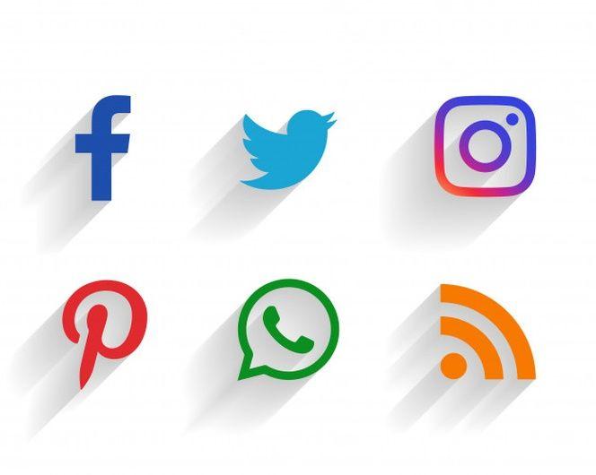 Conjunto Limpio De Logotipos De Redes Sociales Iconos De Redes Sociales Simbolos De Redes Sociales Logo De Instagram