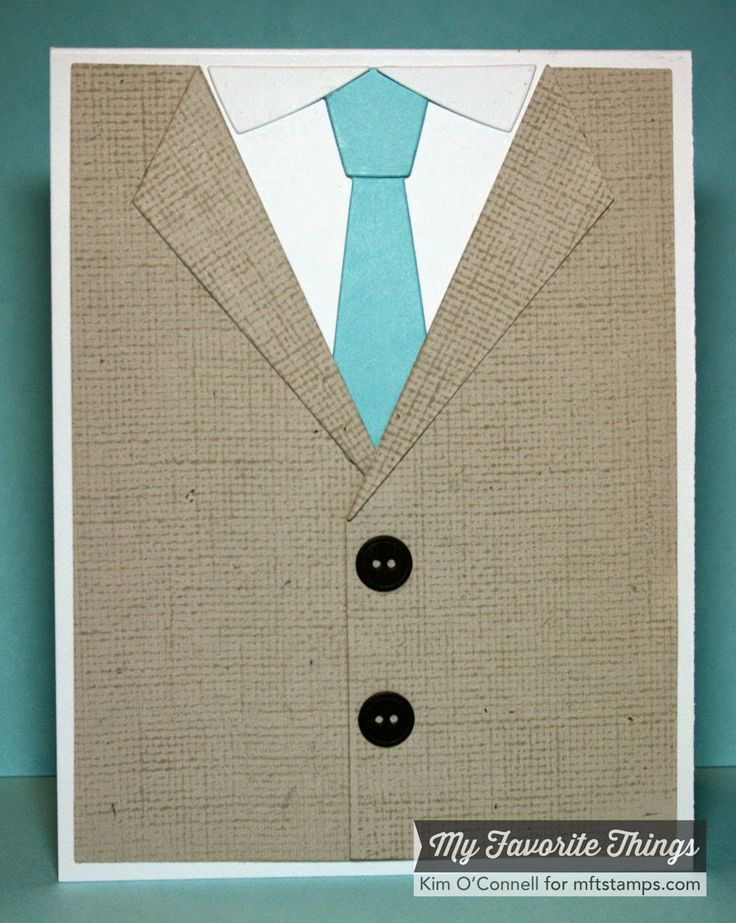 Linen Background, Suit and Tie Die-namics - Kim O'Connell #mftstamps