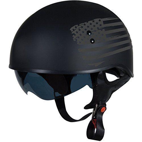 TORC T55 Spec-Op Half Helmet with 'Flag' Graphic (Flat Black, X-Large) - https://www.caraccessoriesonlinemarket.com/torc-t55-spec-op-half-helmet-with-flag-graphic-flat-black-x-large/  #Black, #Flag, #Flat, #Graphic, #Half, #Helmet, #SpecOp, #TORC, #XLarge #Helmets, #Motorcycle