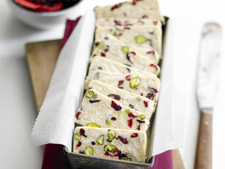 White chocolate, cranberry and pistachio hedgehog slice, chocolate recipe, brought to you by Australian Women's Weekly