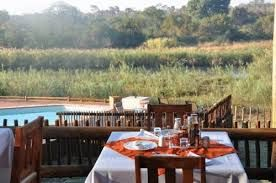 Sabie River Bush Lodge meal deck.