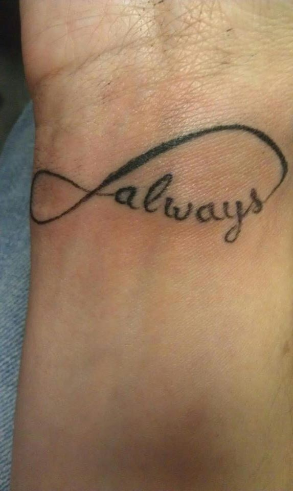 my infinity tattoo my partner has one that says forever tattoos pinterest. Black Bedroom Furniture Sets. Home Design Ideas