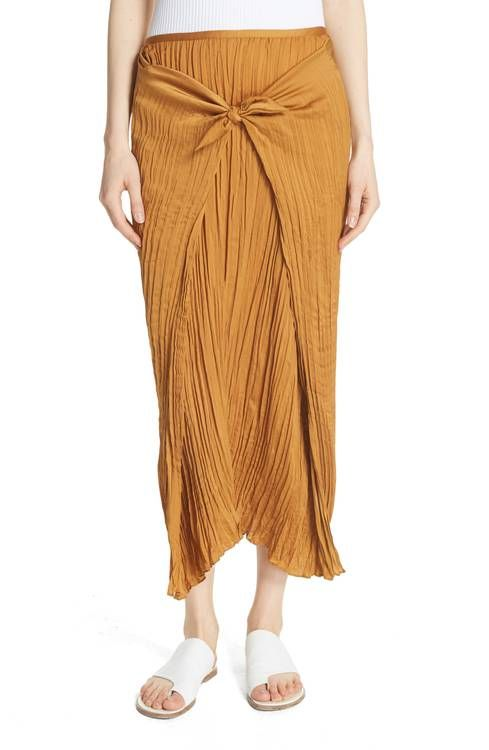ada15fc753 Main Image - Vince Pleated Tie Front Midi Skirt | the short list ...
