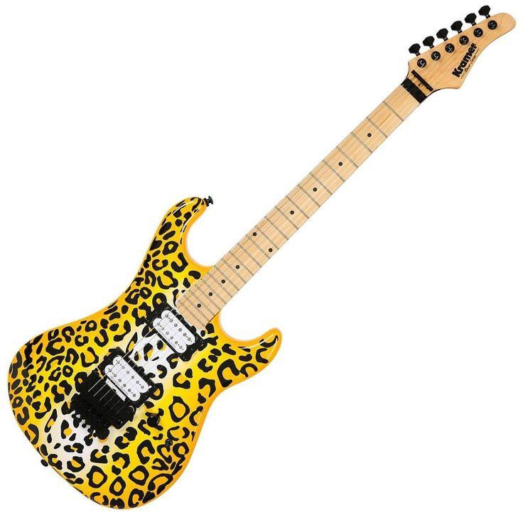 Kramer Pacer Vintage Steel Panther Satchel Signature Guitar Yellow Leopard #Kramer