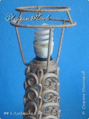 Интерьер Моделирование конструирование Настольная лампа ♥♥♥Джутовая фантазия♥♥♥ Шпагат фото 8