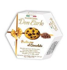 Sušenky s kousky čokolády DON CARLO 100 g