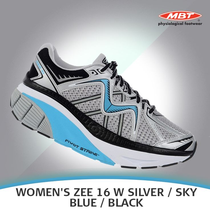 The newly launched MBT Women's ZEE 16W is equipped with a minimal nylon shank molded into the midsole that promises both stability and flexibility. Available in Silver, Sky Blue and Black.