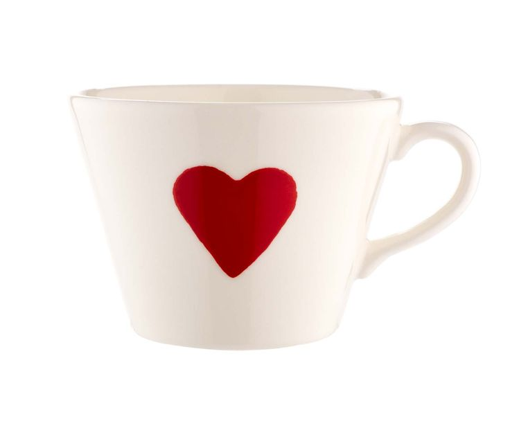 Brighten up your crockery collection with this hand painted love heart mug.  Priced at £4.