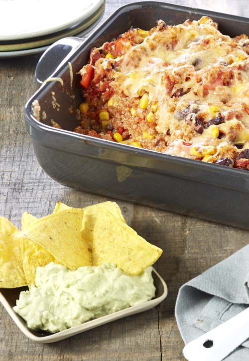 Gratin mexicain au quinoa et guacamole