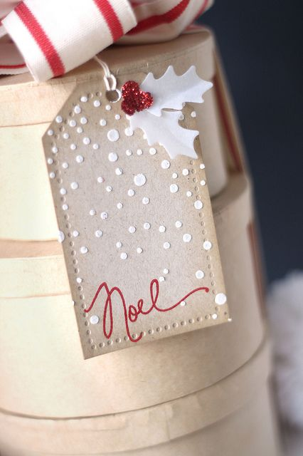 snowy noel tag