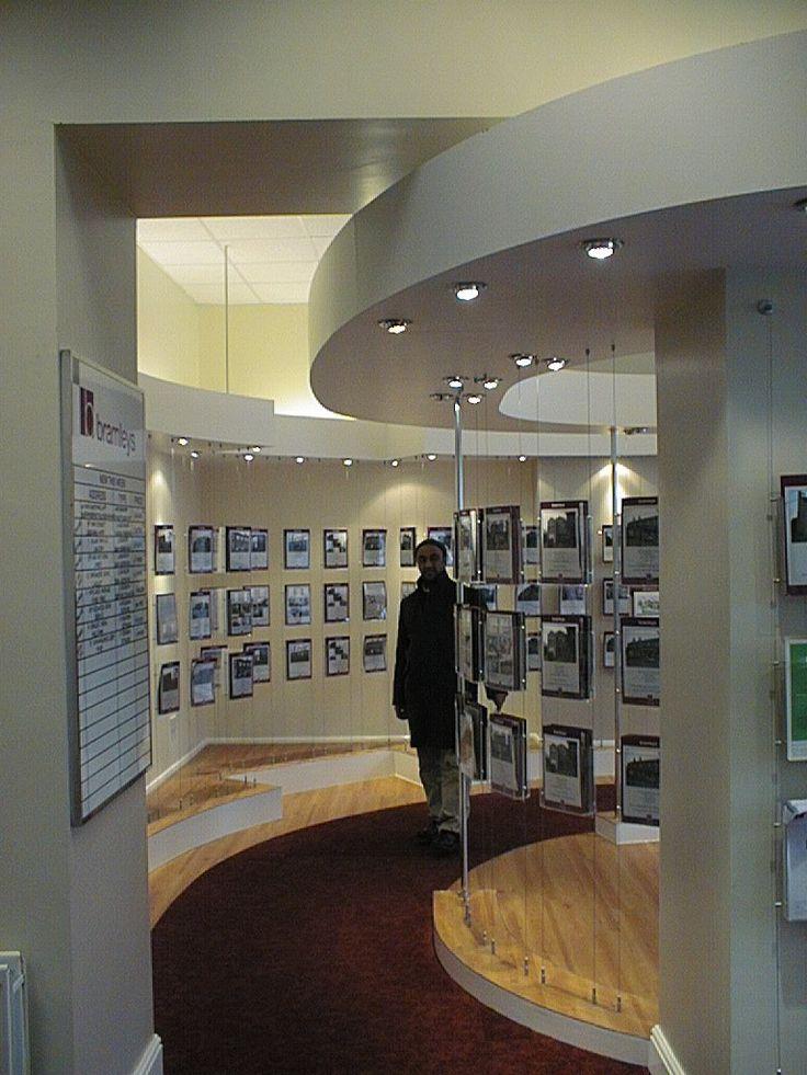Bramleys estate agents bulkheads installed to reflect flooring