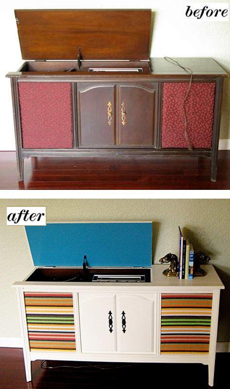 DIY redo record player cabinet | DIY | Pinterest