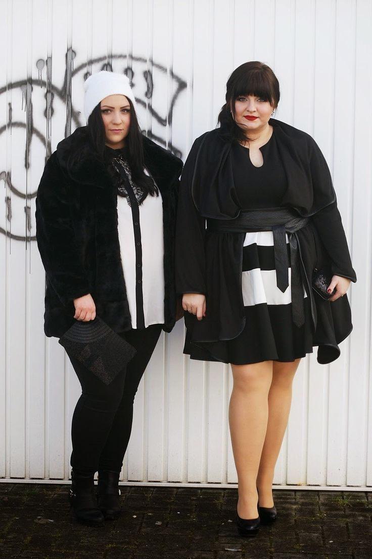 CONQUORE · The Fatshion Café Plus Size Blog: Two black & white outfit ideas