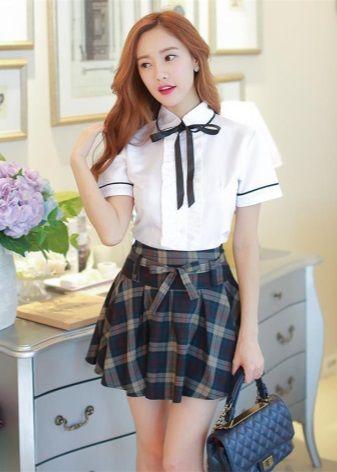 Школьные юбки (62 фото): школьные для девочек и подростков, в клетку, японские в складку, синие, черные и серые