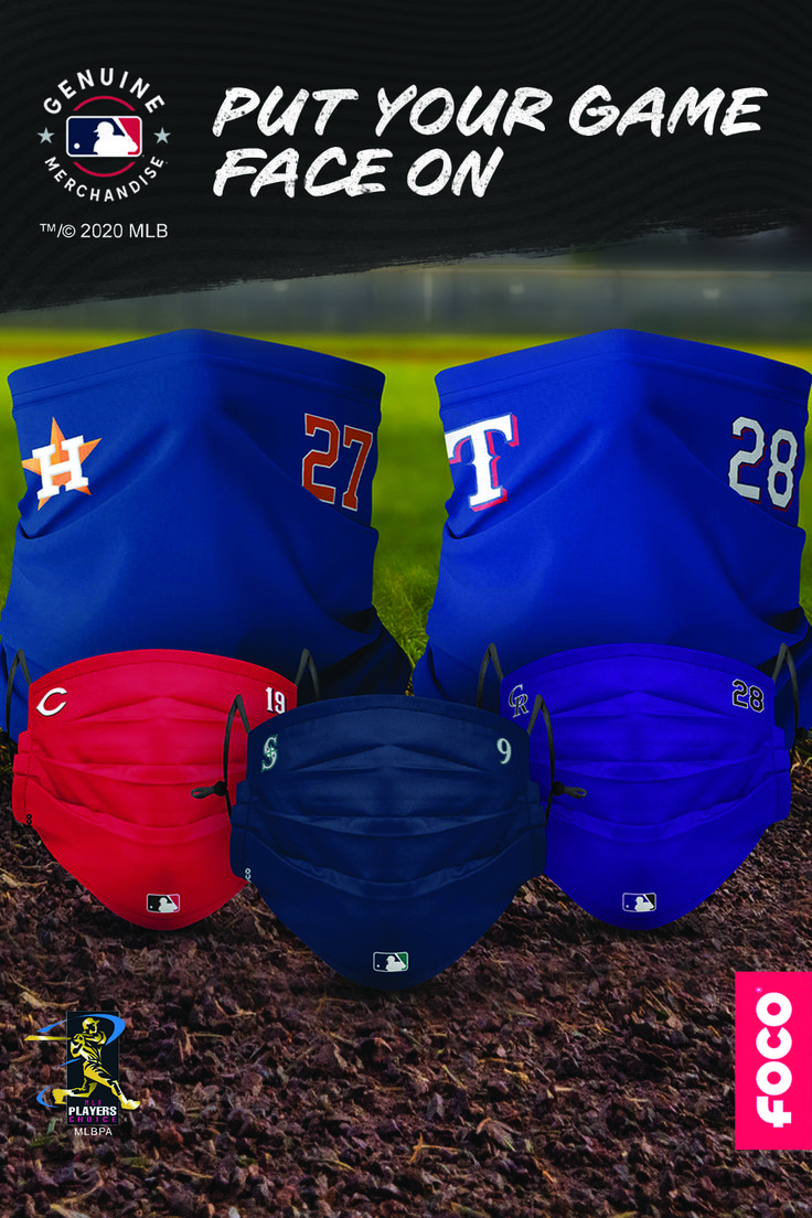 Foco Gameday Player Adjustable Face Covers In 2020 Face Cover Mlb Gameday