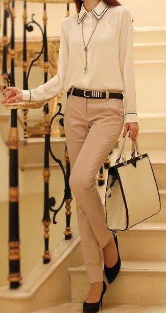 fall fashion | Neutral + Ivory & Black. dresslily.com