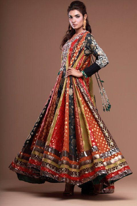 Anarkali Pishwas bollywood designers By Merishopping.com - gorgeous for the pithi!!