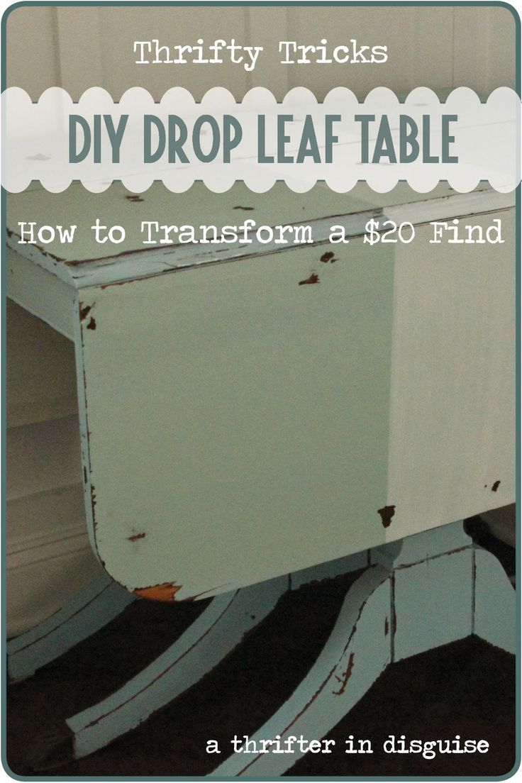 A Thrifter in Disguise: Miss Mustard Seed's Milk Paint Drop Leaf Table