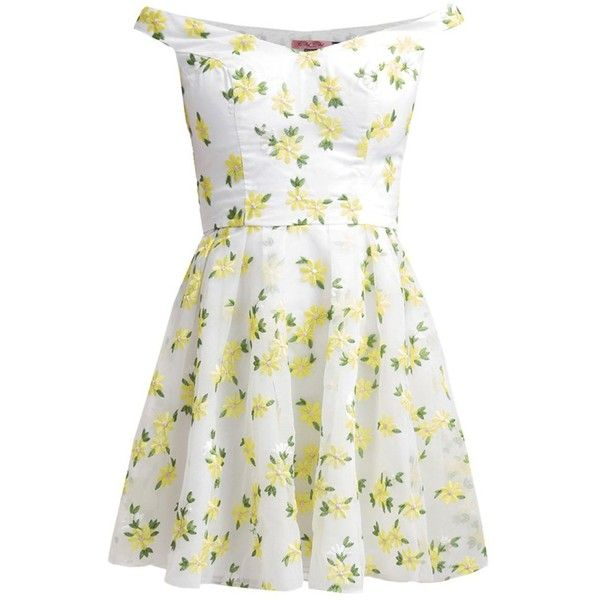 Yellow and white summer dresses