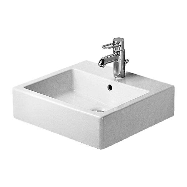 Shop Duravit  04545000 Vero Washbasin Wall Mount Bathroom Sink, White Wondergliss at ATG Stores. Browse our wall mount bathroom sinks, all with free shipping and best price guaranteed.