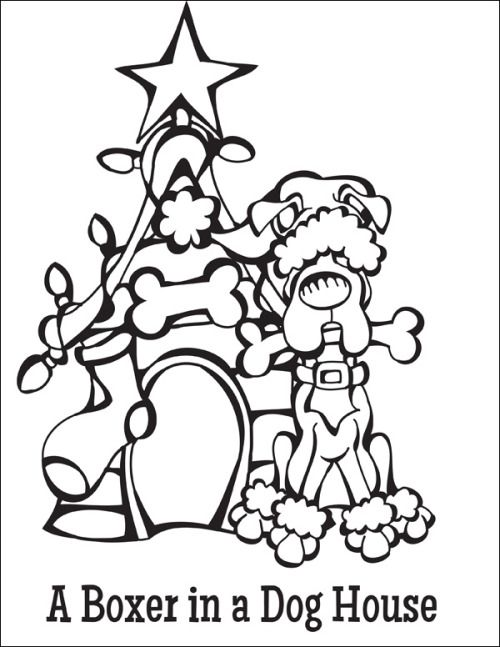 13 best coloring pages  12 dogs of christmas  images on
