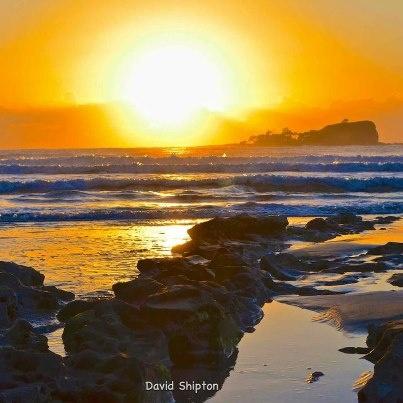 Sunrise over Old Woman Island, Sunshine Coast, Australia