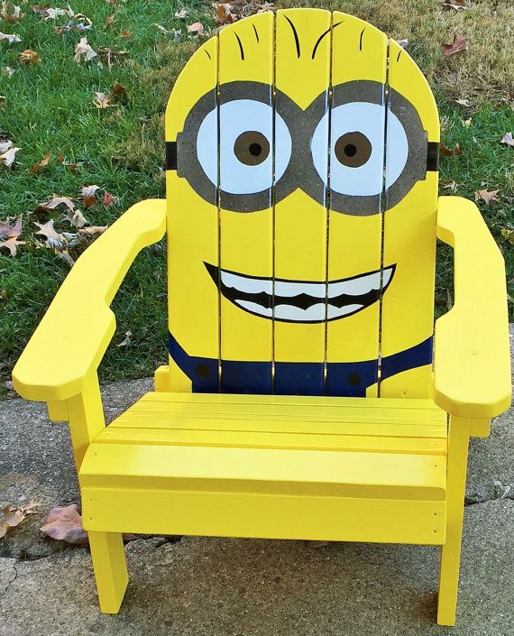 Minions Adirondack Chair Child Size By Bcadirondacks On