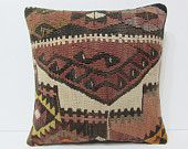 """interior designing 18"""" boho pillow cover hand embroidered pillow case primitive pillow extra large cushion decorative sofa pillow case 21413"""