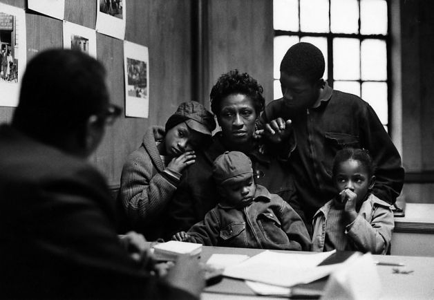 """Gordon Parks' """"The Fontenelles at the Poverty Board, Harlem, New York"""" (1967). Credit for all images must say: Photograph by Gordon Parks, C..."""
