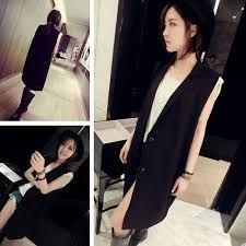 Resultado de imagen para chaleco de vestir negro mujer
