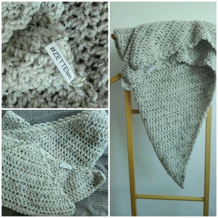 Omslag sjaal tweet beige