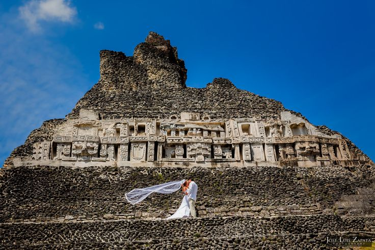Placencia Belize #Wedding and Next Day Photos at #Xunantunich Mayan Site.  #Mayan #Maya #Photographer #Belize